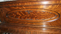 Antique 1/4 cut Oak Piano, by Story & Clark, absolutely stunning