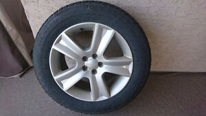 Subaru wheels with studded tires