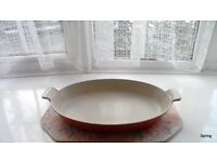 Le Creuset Vintage Volcanic Orange Oval Gratin Dish - 36 cms - perfect condition