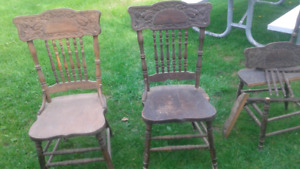 Wood high back chairs