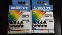 Brother LC41B Black Cartridges for Inket Printer - Brand New