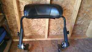 Snowmobile two up backrest