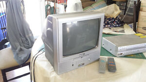 "13"" TV with Built in DVD Player plus DVD/VCR Player"
