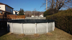 21' above ground pool. Hayward pump and filter included.