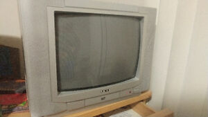 "Akai 13"" tv with built in DVD player"