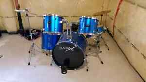 Basix 5 pc drum kit almost new