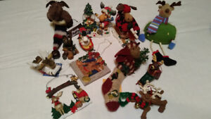 Moose Christmas ornaments.  LOT for $10.
