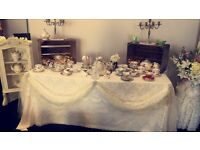 Vintage China and Prop Hire, weddings, christenings, birthdays etc