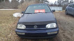 1997 Volkswagen Cabrio Convertable PROJECT $1200