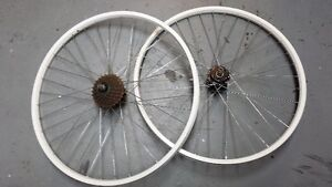 White 26 Inch Disc Rims