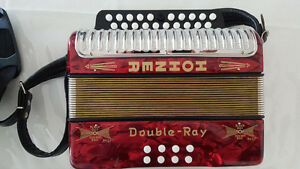 Hohner Double Ray Accordian - Brand new