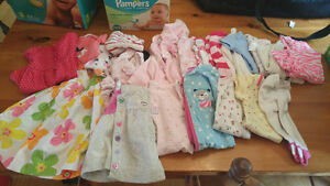 Baby girl clothing 0-3 up to 9 months!!
