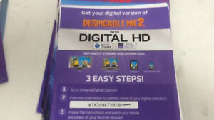 WANTED: Digital Download codes for movies