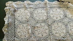 Hand Crocheted Table Covers -- 100% cotton - lots (size, colour)