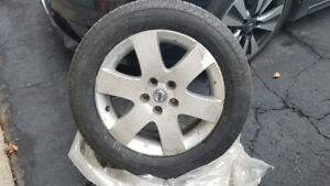 4 Winter Tires On Rims Great Condition 225/55R17