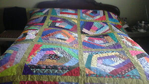 Stippled Homemade Patch Quilt