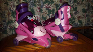 Roller skates for girls - comes with training wheels and breaks