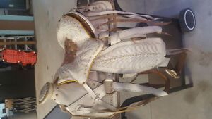 """Two 14"""" costume/parade saddles for sale."""