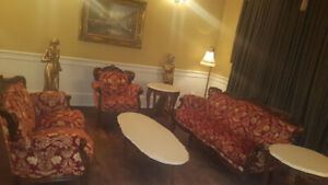 Living Room set 6 PIÈCES antique baroque louis xiv