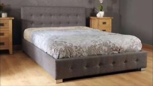 "BRAND NEW MODERN ""NICK"" GREY FABRIC GAS LIFT Bed Frame all sizes Reservoir Darebin Area Preview"