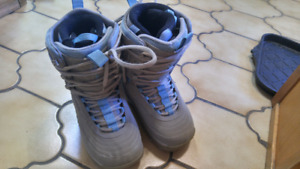 Womans snowboarding boots