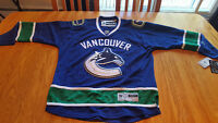 AUTHENTIC REEBOK VANCOUVER CANUCKS JERSEY - NEW
