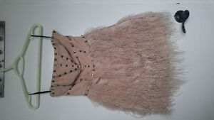 Bebe studded feather dress