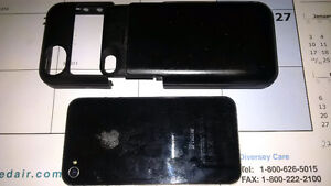 IPhone 4S with battery case