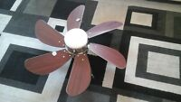 35 inch fan with lighting in espresso or cherry color