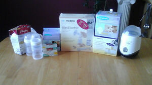 Tire-lait, chauffe-biberon et stérilisateur, sac de conservation
