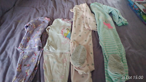 5.00 -20.00 lots of Pajamas girl and boy lot and winter snowsuit
