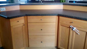 Kitchen cabinets, island, sink, countertops for sale