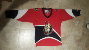 Authentic Senators Jersey, Kids L/XL, Sens, NHL, CCM
