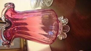 Vintage cranberry glass mutiple pieces