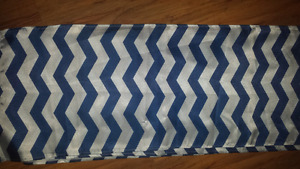 Satin Navy/White chevron table runners