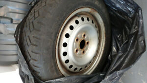 2 Goodyear winter tires in very good shape with Rims 215 60 R16