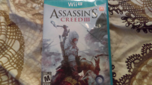 Assassins creed 3  for wiiu $10