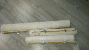 Bay windows covering bamboo sticks