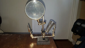 Helping Hand w/ Magnifier and soldering stand