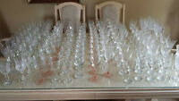 Mix and match vintage wine glasses