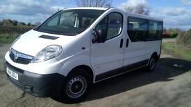 2014 Vauxhall Vivaro 2900 Combi 9 Seat Minibus LWB Taxi Diesel 54,000 Miles