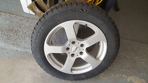 Snow Tires with Alloy Rims