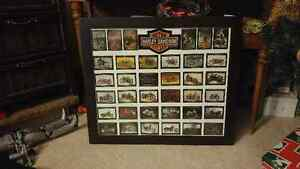 "Awesome 27"" x 23"" Harley Davidson Framed Collector Cards."