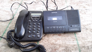 House phone and recorder