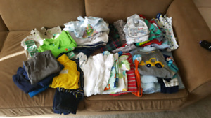 Bundle of baby boy clothes 6 months
