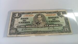 1935 Canada $1.00 Bank Note Gordon/Towers