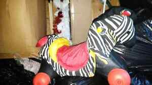 Zebra rocking horse need gone