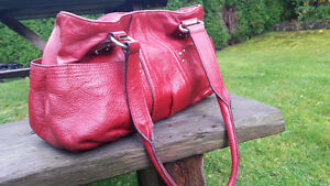 Tignanello Red leather Purse