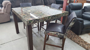 5 piece camo dining pub set - Delivery Available