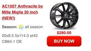 """20"""" wheels for Acura MDX, TLX, RDX."""